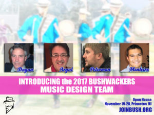 Introducing the 2017 Bushwackers Music Design Team
