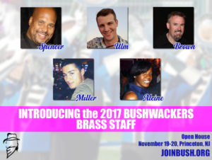 The 2017 Bushwackers Brass Staff