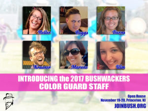 2017 Bushwackers Color Guard Staff